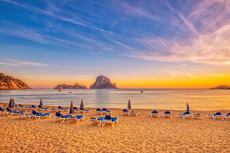 De baai van Cala D'hort op Ibiza. Beeld Getty Images