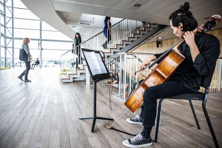 Het Minimal Music Festival in Het Muziekgebouw aan 't IJ in Amsterdam.  Beeld Melle Meivogel