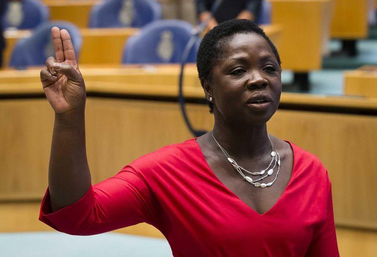 PvdA'er Amma Asante wordt beëdigd als Kamerlid. Beeld anp