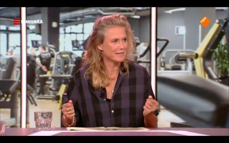 Sophie Hilbrand in de eerste aflevering van Khalid & Sophie. Beeld