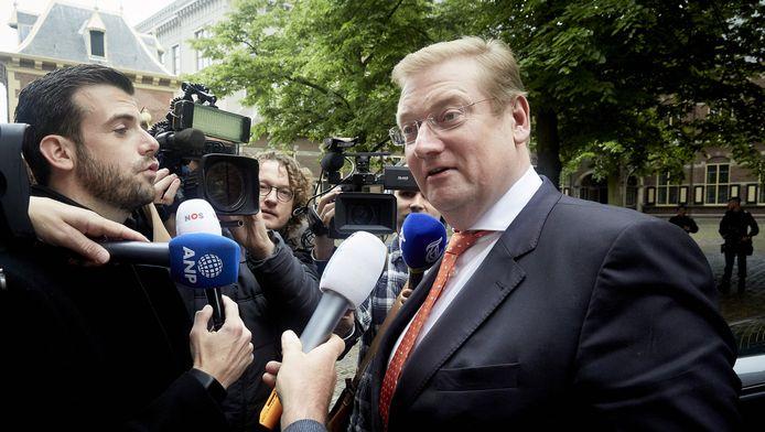 Minister van der Steur afgelopen weekend op het Binnenhof