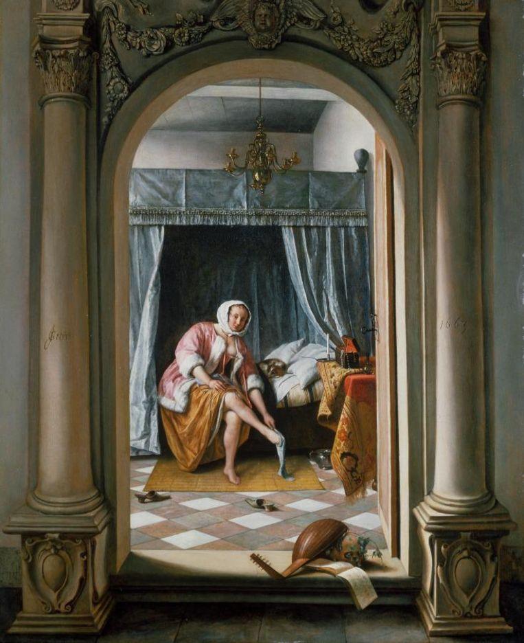 'Meisje in de slaapkamer', van Jan Steen. Beeld TRBeeld
