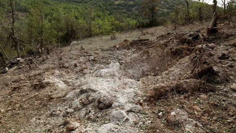 De bombardementen van de Turkse luchtmacht laten hun sporen achter.