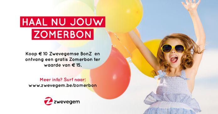 Om lokale ondernemers te ondersteunen, lanceert Zwevegem de 'Zomerbon'. De bon kan ingeruild worden in de zaken die het meest te lijden kregen onder de coronacrisis.