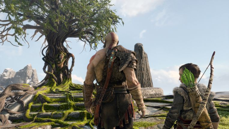 Vader en zoon in 'God of War'. Beeld Sony PlayStation