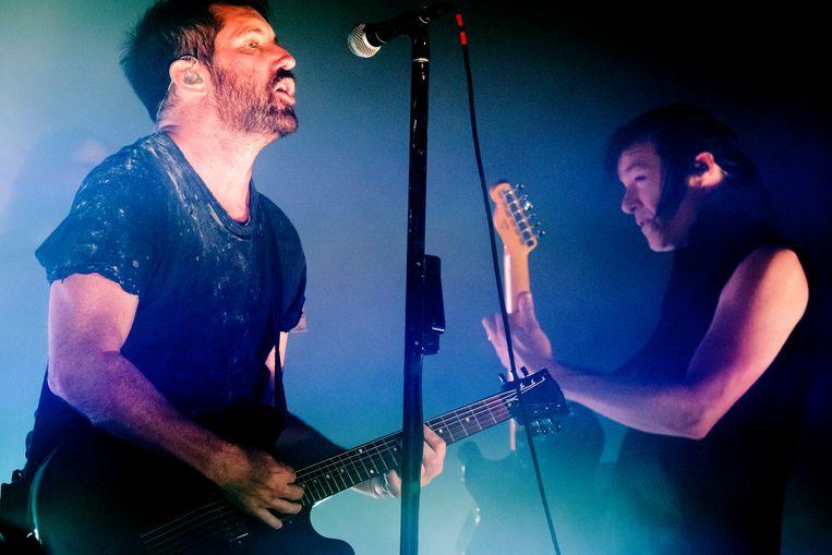 Nine Inch Nails op Rock Werchter. Beeld Stefaan Temmerman