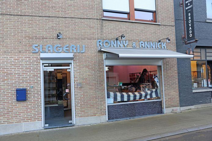 Slagerij Ronny en Annick gaat dicht.
