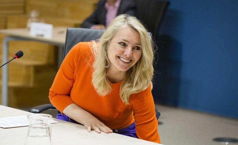 Minister Melanie Schultz van Infrastructuur en Milieu verschijnt voor de parlementaire enquetecommissie Fyra Beeld anp