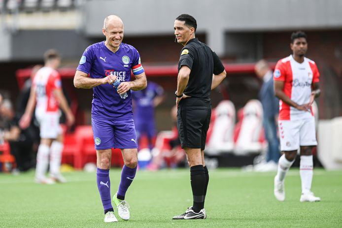 Serdar Gözübüyük floot vorige week zondag FC Emmen - FC Groningen.