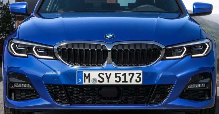 De neus van een BMW3. Beeld