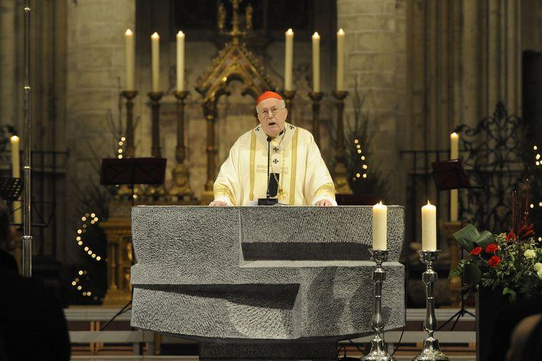 Kardinaal Danneels in 2008. Hij werd beschuldigd van schuldig verzuim. Beeld BELGA