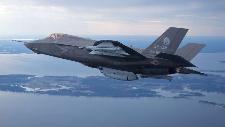 Een Lockheed Martin's F35 Joint Strike Fighter van het US Marine Corps. Beeld REUTERS