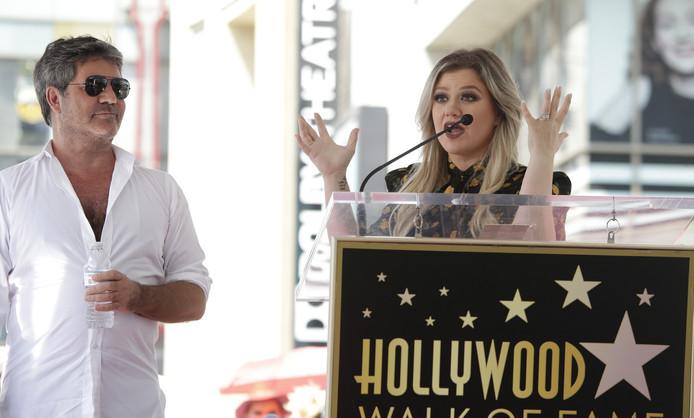 Simon Cowell  en Kelly Clarkson