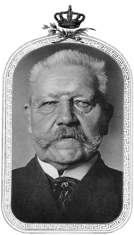 """Paul von Hindenburg (1847-1934), de tweede president van de Weimarrepubliek, werd vereerd als """"Ersatz-Kaiser'.  Beeld Getty Images"""