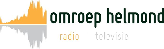 Het nieuwe logo van Omroep Helmond.