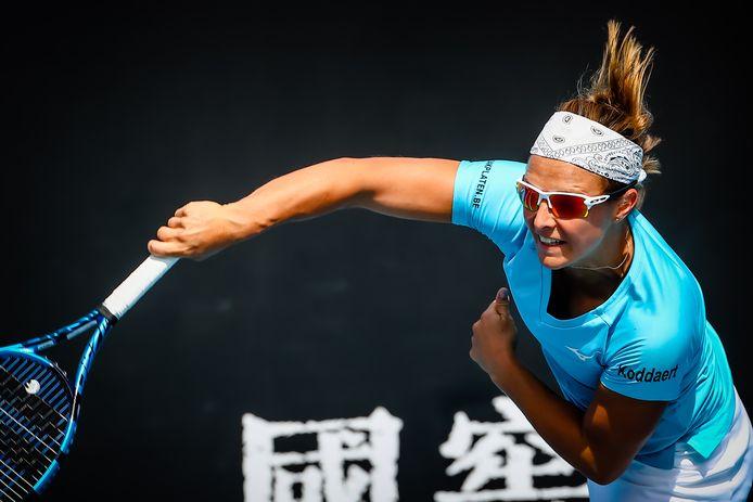 Flipkens op het WTA-toernooi in Melbourne vorige maand.