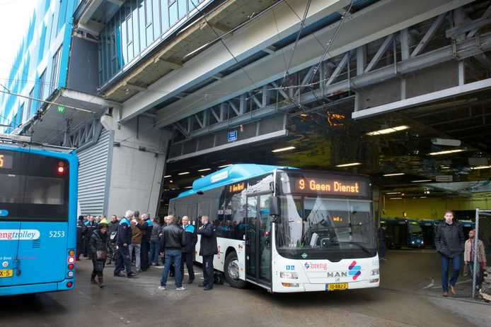 Busstaking in Arnhem.