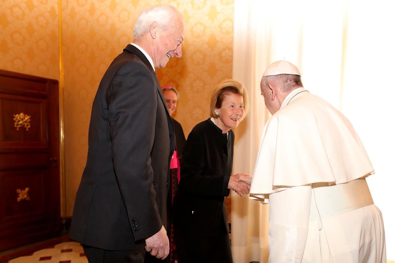 Marie de Liechtenstein au Vatican en 2017.