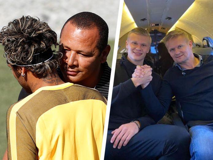Onder meer de vaders van Neymar en Haaland zijn sterk betrokken bij de carrières van hun zoons.