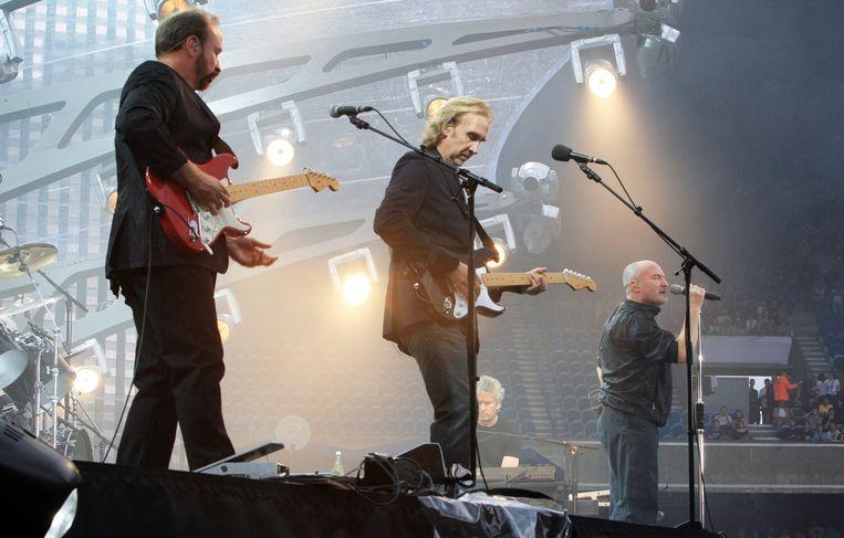 Genesis tijdens het voorlopig laatste optreden in 2007. Beeld AFP