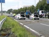 Politieachtervolging eindigt in crash op A12 bij Zoetermeer
