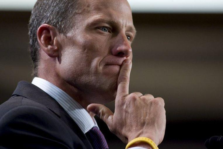 Armstrong gaat weer fietsen om kanker wereldwijd onder de aandacht te brengen. Foto EPA/Ramin Talaie Beeld