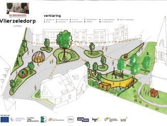 Eerste schets herinrichting dorpsplein Vlierzele klaar