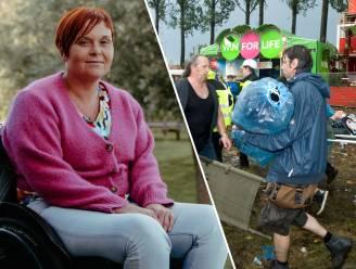 """Tien jaar na Pukkelpopdrama. Sarah De Schryver (40) raakte verlamd toen een boom op haar viel: """"Ik zoek al tien jaar naar de man die me toen hielp"""""""