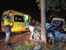 Bestuurder en bijrijder naar ziekenhuis na klap tegen boom in buitengebied Molenschot