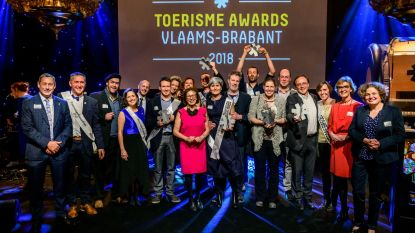 Winnaars eerste Toerisme Awards Vlaams-Brabant krijgen hun trofeeën