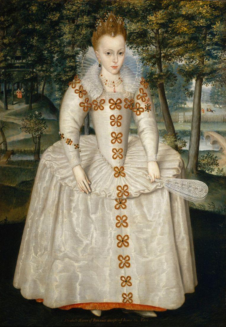 Elizabeth Stuart (1596-1662), geschilderd door Robert Peake the Elder. Beeld