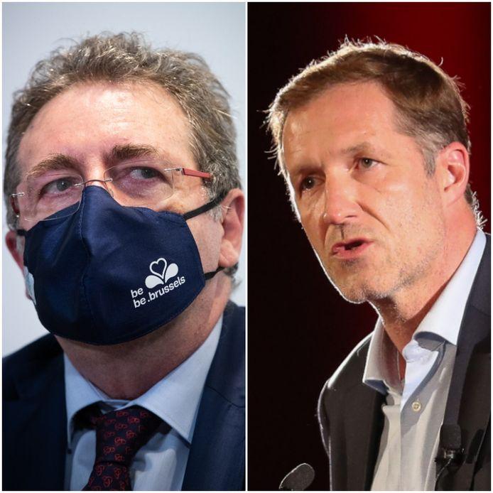 Brussels minister-president Rudi Vervoort (PS) en PS-voorzitter Paul Magnette.