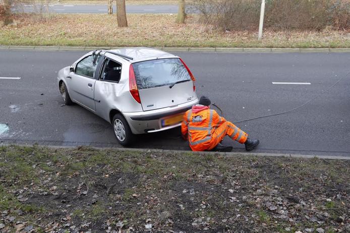 De bestuurder raakte lichtgewond