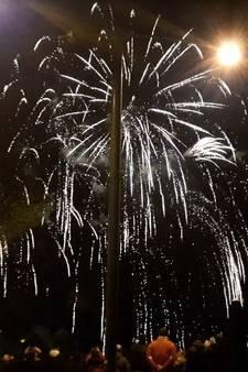 Vuurwerk knallende afsluiter van Koningsdag in Arnhem