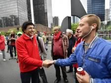 Elio Di Rupo dans la rue pour défendre les travailleurs