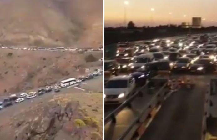 La route de montagne menant de Marrakech à Ouarzazate restait encore bloquée lundi matin