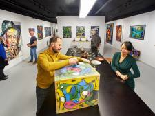 Kunstenaar Christian maakt het Veghelse centrum nét een beetje leuker