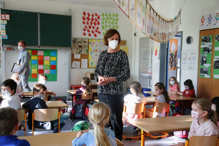De Duitse regering trekt 2 miljard euro uit voor de onderwijsinloop op de ontstane corona-achterstanden. Beeld REUTERS
