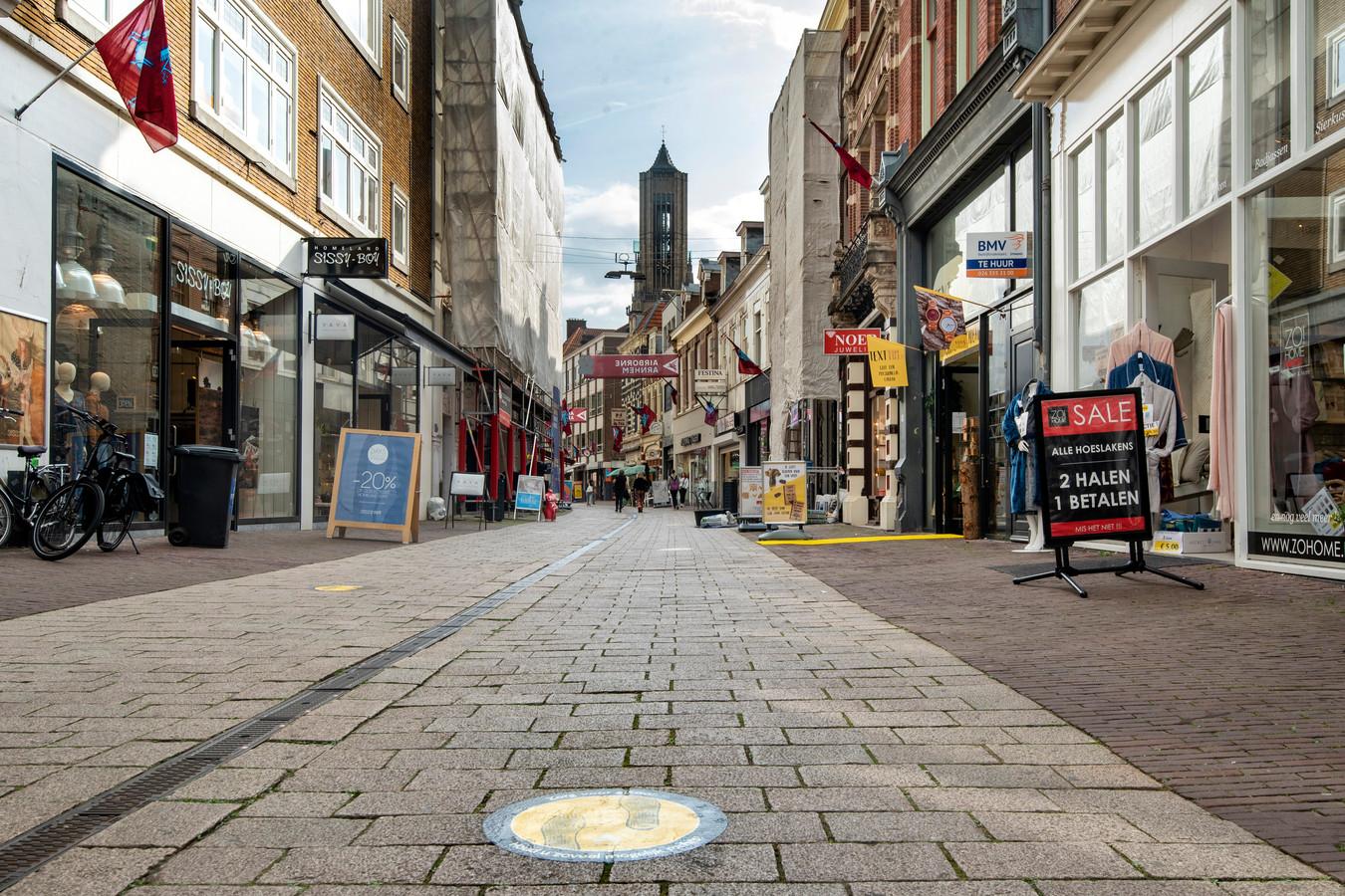 Het winkelgebied van Arnhem is zwaar getroffen door de coronacrisis.