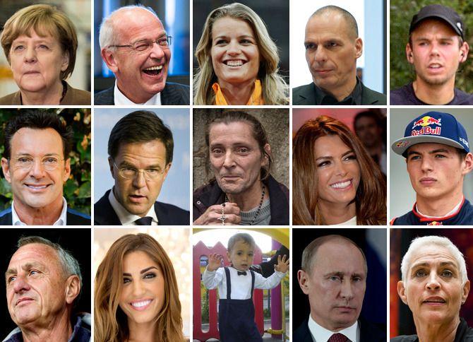 Een selectie uit de personen die in 2015 prominent in het nieuws kwamen.