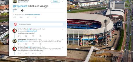 Deventer voetbalfan solliciteert via Twitter bij Feyenoord