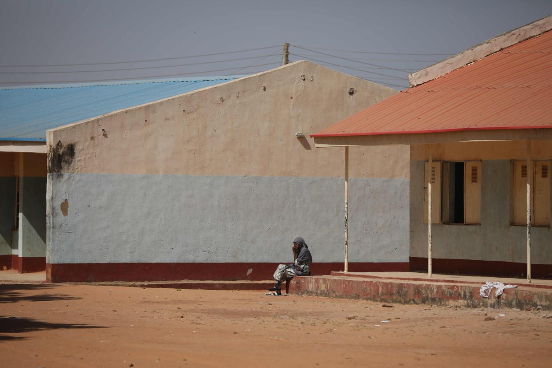 De school in Kankara waar de schooljongens werden ontvoerd door terreurgroep Boko Haram. Beeld AFP