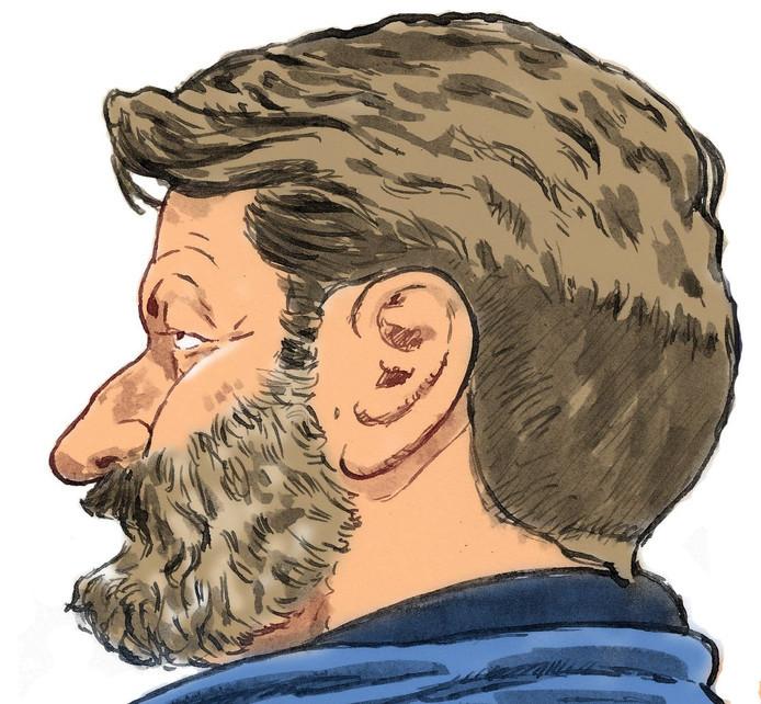 Klusjesman Josef B. tijdens de rechtszitting eerder deze week.