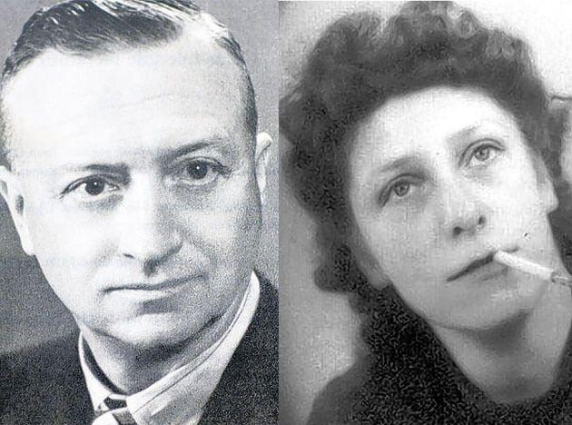 Het slachtoffer Felix Guljé en Atie Visser tijdens de oorlog.