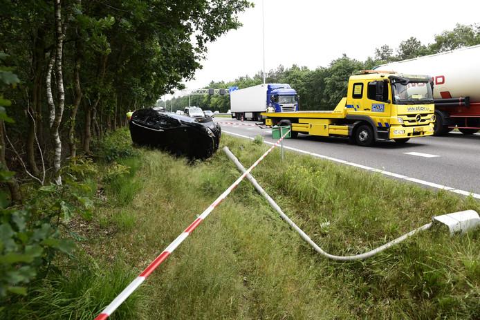 Ongeval op A27 bij Oosterhout.