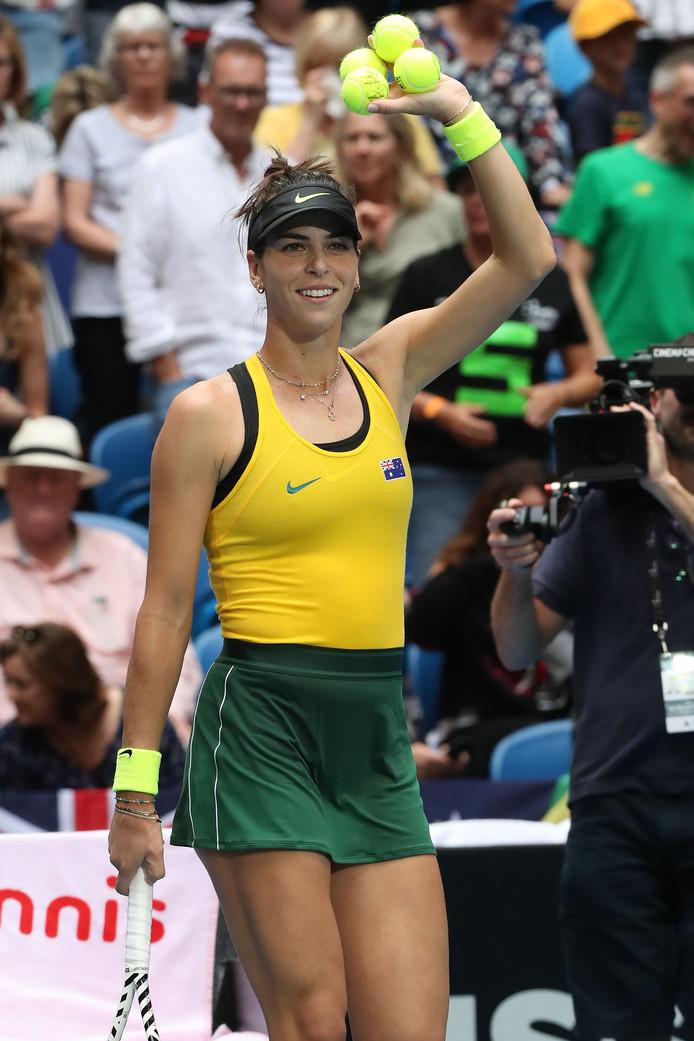 Ajla Tomljanovic bracht Australië weer op gelijke hoogte.