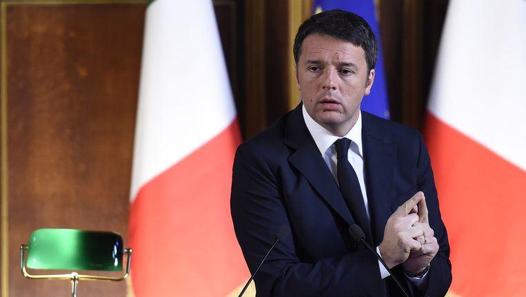 De Italiaanse premier Matteo Renzi Beeld AFP