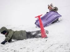 Sneeuwpret in Tiel