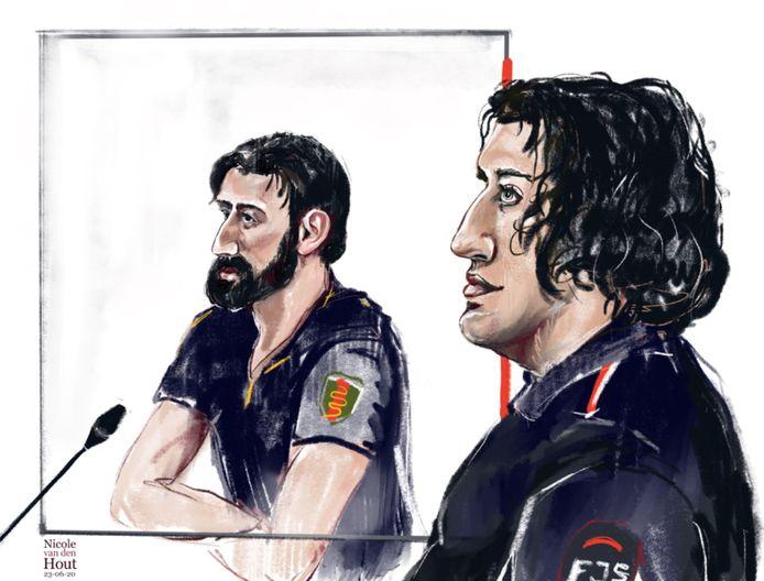 Abas (links) en Idris M. (rechts) zouden onderdeel zijn van een drugsbende die lijnrecht tegenover de 'Turkse bende' staat.