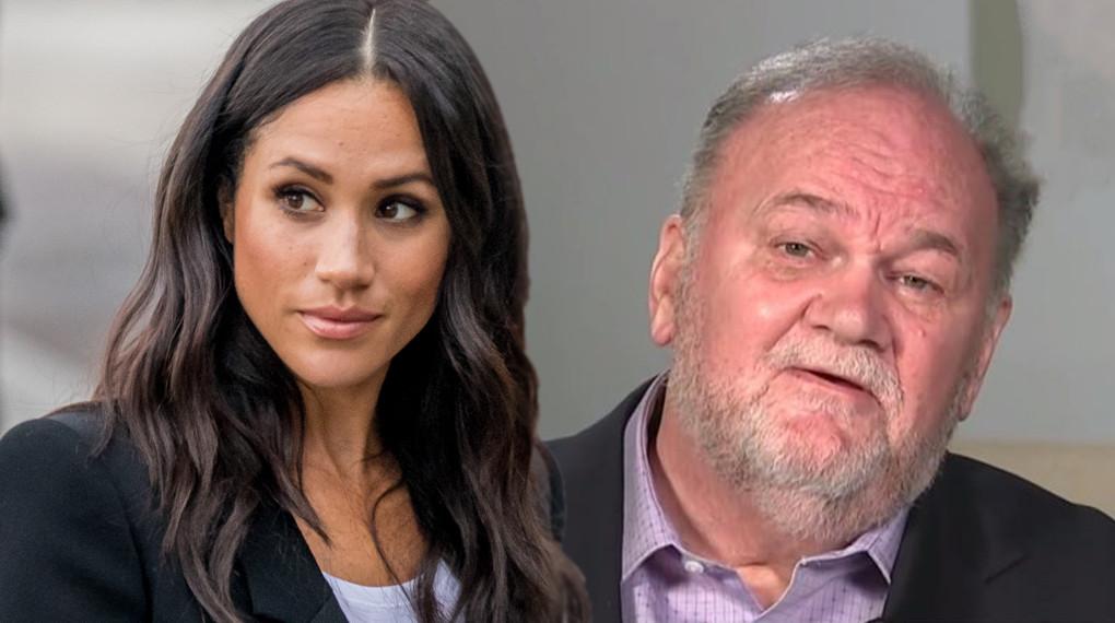 Meghan Markle en haar vader Thomas.